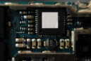 Close up of one of the two main circuit boards