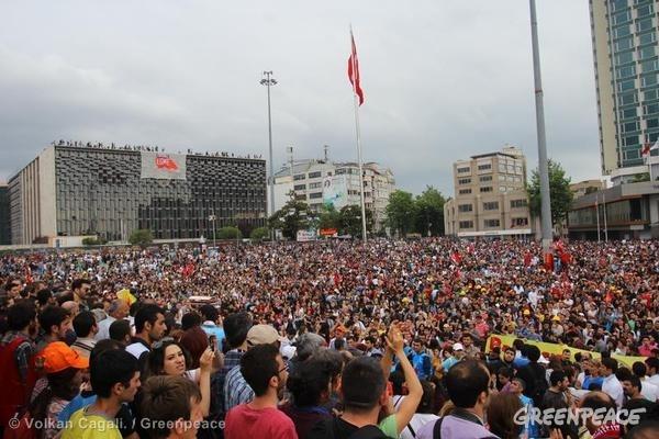 Protest in Taksim Gezi Park in Istanbul