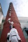 Greenpeace activists today scaled a chimney