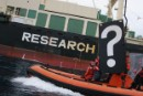 Fearing US reaction, Japanese whaling fleet hides in port