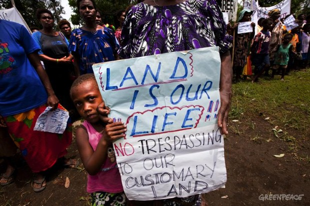 Locals Protest Land Grabs in PNG