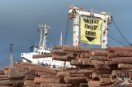 Greenpeace action against Malaysian logging