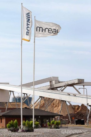M-Real and Botnia mills in Kemi, Northern Finland, use wood from Finnish ancient forests.