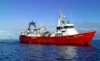 The NZ deep sea trawler Amaltal Voyager trawling in international waters