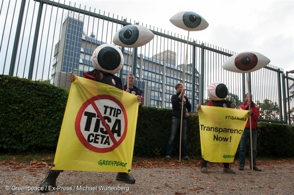 Action against TiSA in Switzerland