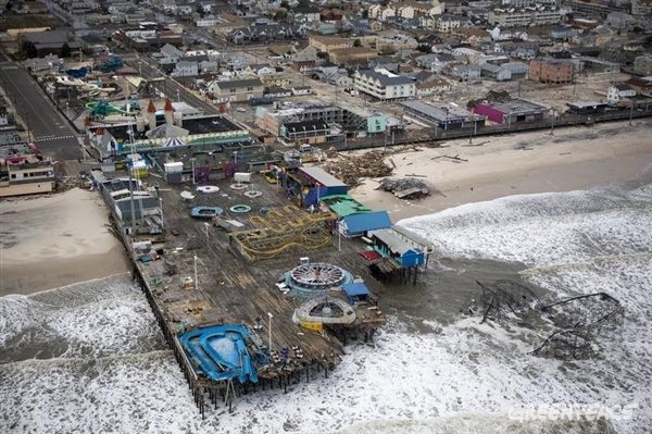 Devastation after hurricane Sandy