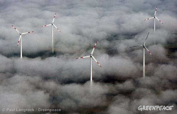 Wind Mills in Germany. 09/09/2012 © Paul Langrock / Greenpeace