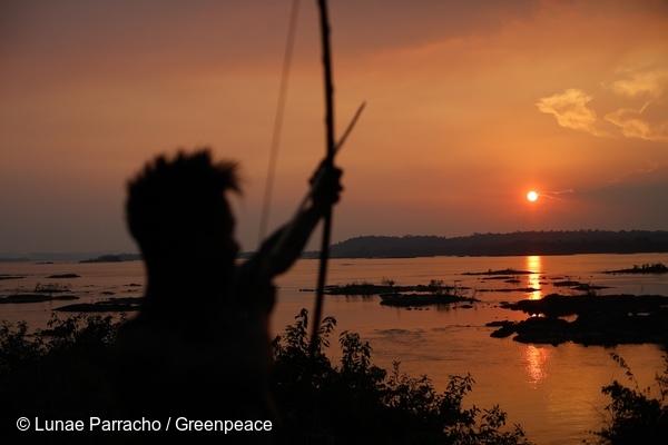 Member of the Munduruku Tribe in the Amazon. 23 Sep, 2015  © Lunae Parracho / Greenpeace