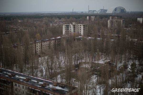 Abandoned City of Pripyat in Ukraine © Denis Sinyakov / Greenpeace