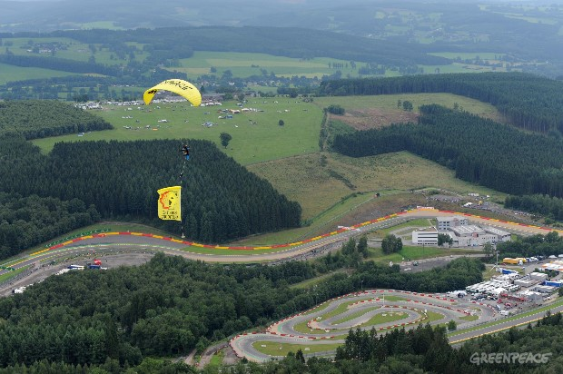 Shell Protest At The Belgian Grand Prix