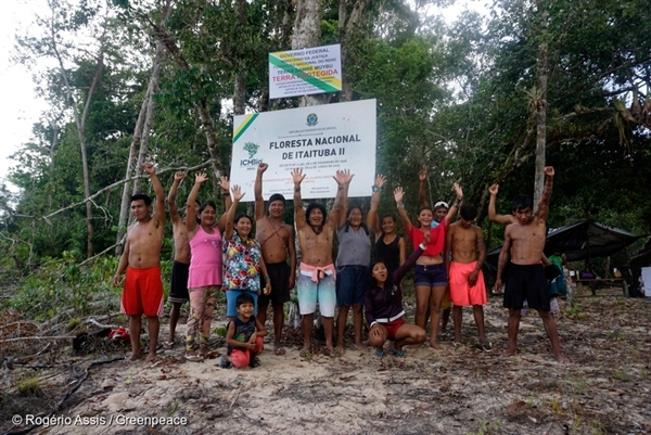 Munduruku and Greenpeace Demarcate Indigenous Lands in the Amazon, 11 Jul, 2016,  © Rogério Assis / Greenpeace