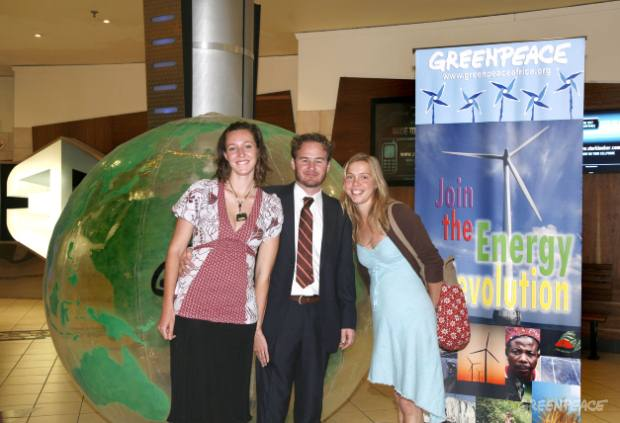 Greenpeace at the Age of Stupid movie premier