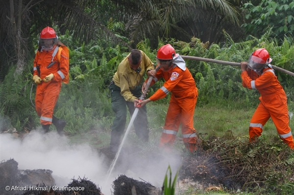 Greenpeace Forest Fire Prevention Training in Indonesia. 29 Jan, 2017,  © Afriadi Hikmal / Greenpeace