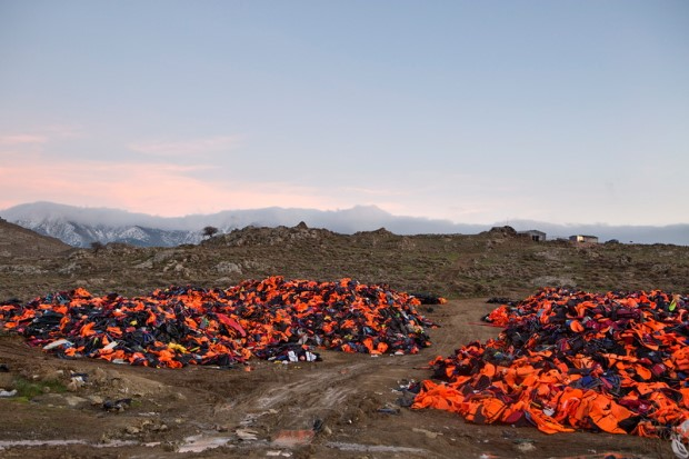 Discarded Life Jackets on Island of Lesbos
