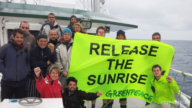 Protest Aboard The Rainbow Warrior