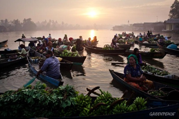 Floating Market in Kalimantan