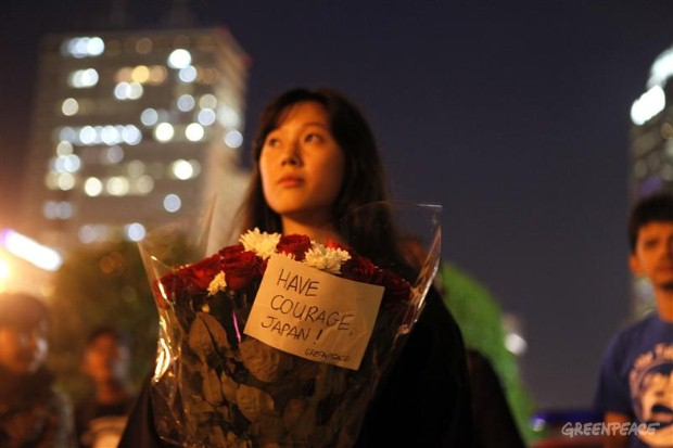 Vigil in Jakarta for Japan's Victims