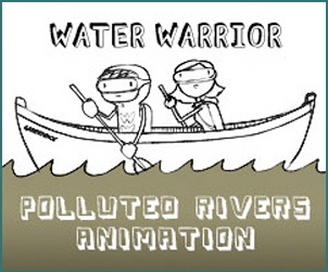 polluted rivers animation