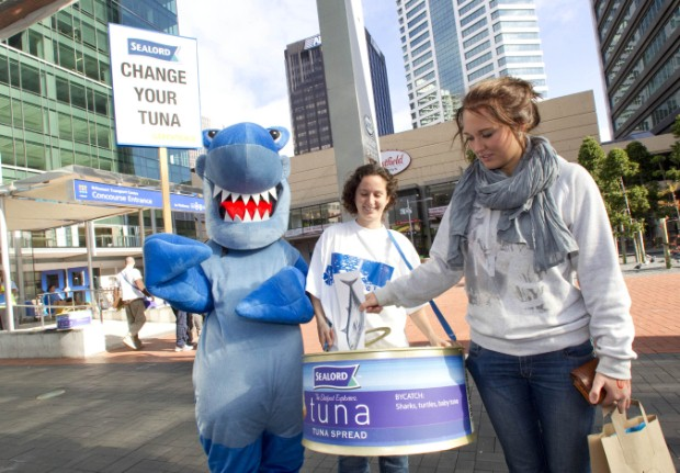Greenpeace launches a public campaign in downtown Auckland