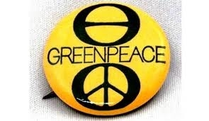 Original Greenpeace button