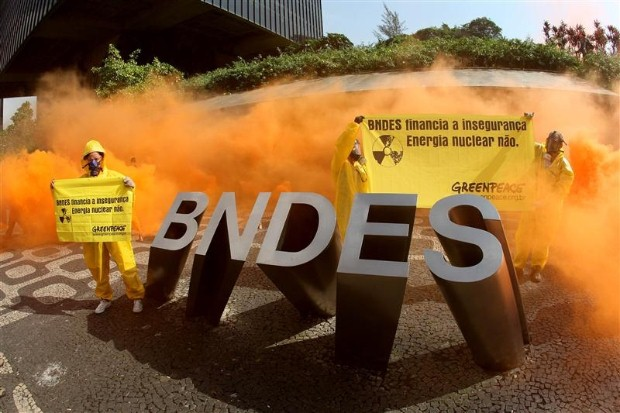 Anti Nuclear Demonstration in Brazil