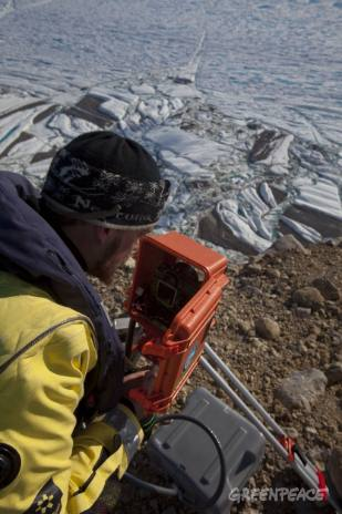 Glaciologist Dr Jason Box on Petermann Glacier