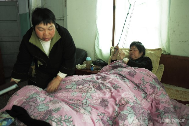 Sick Village Resident in China