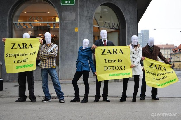 'Detox' Zara Day Of Action, LJubljana.