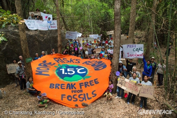 Break Free Action in Phitsanulok Thailand  © Chanklang Kanthong / Greenpeace