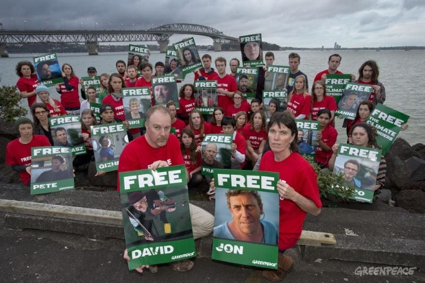 Arctic 30 Solidarity Protest, New Zealand