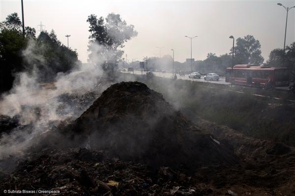 Garbage burning