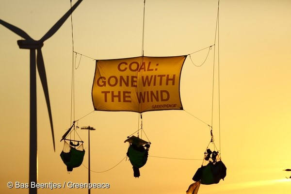 Activists Block Entrance to a Coal Plant in Eemshaven, Netherlands