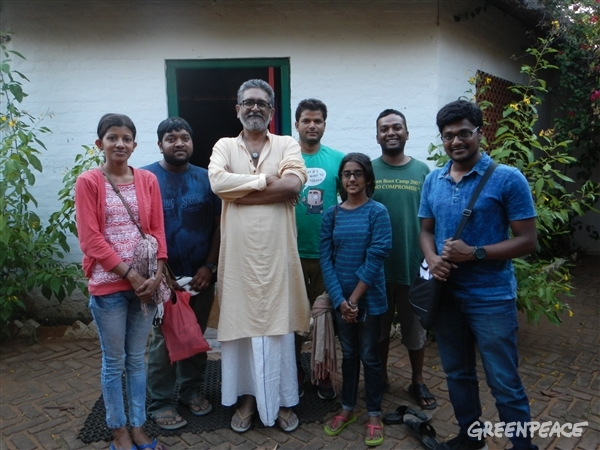 The Greenpeace India team that visited the Timbaktu Collective