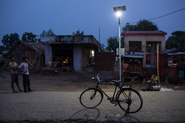 Since March 2014 the streets of Dharnai are no longer dark or dangerous thanks to the solar-powered LED lights that have lit up every corner of the village.