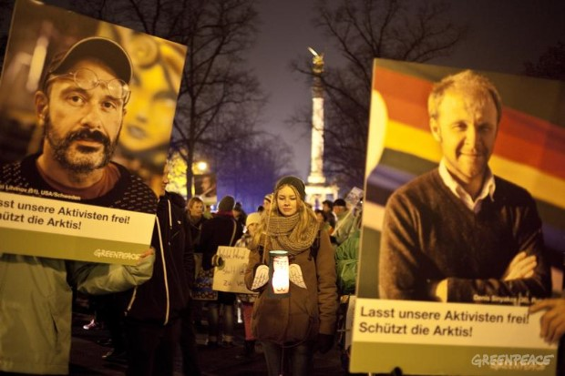 Lantern Procession for Arctic 30 in Munich