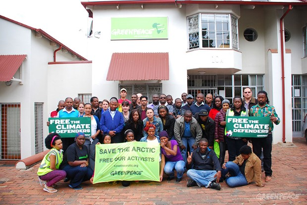 'Arctic 30' Greenpeace Africa Protest
