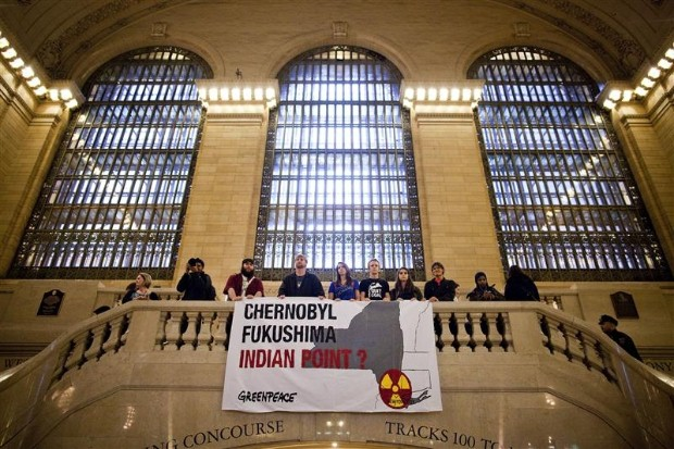 Protest in Grand Central Station, New York City