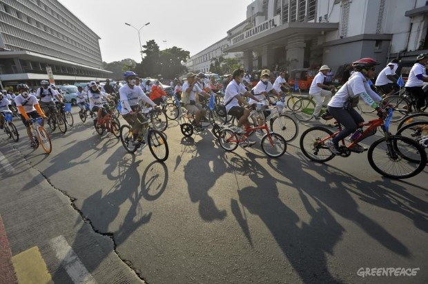 Ice Ride Day of Action in Jakarta, Indonesia