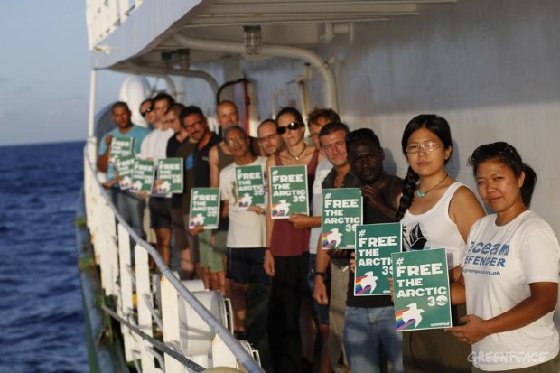 'Arctic 30' Global Day of Solidarity Aboard The Esperanza