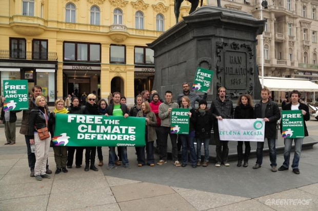 'Arctic 30' Global Day of Solidarity in Zagreb