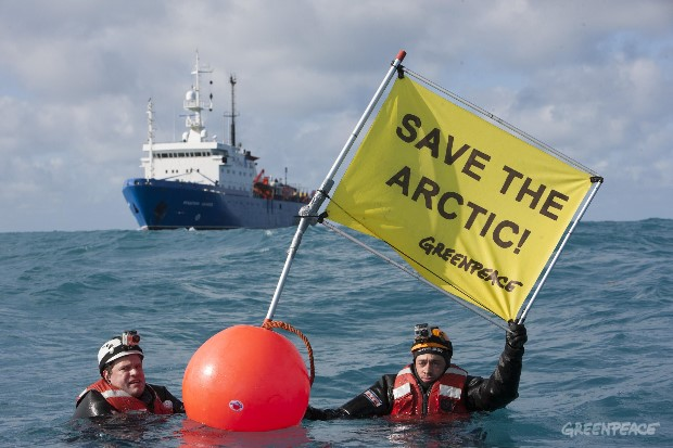Confronting Russian Seismic Vessel in Barents Sea