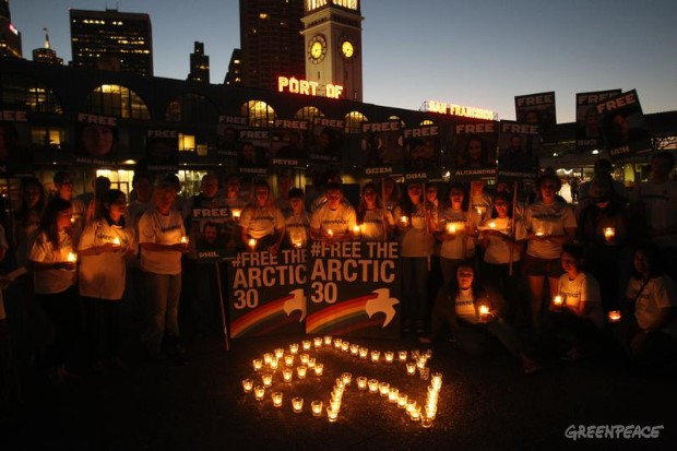 'Arctic 30' Global Day of Solidarity in San Francisco