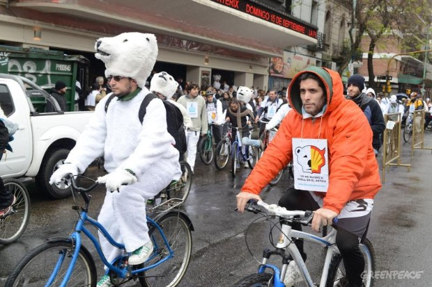 Ice Ride Day of Action in Buenos Aires, Argentina