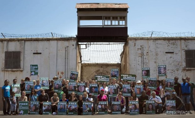 'Arctic 30' Global Day of Solidarity in Johannesburg.