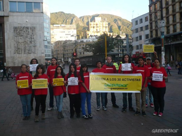 'Arctic 30' Global Day of Solidarity in Colombia