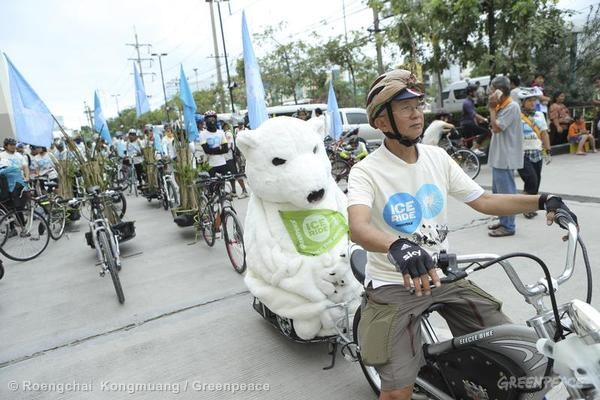 Ice Ride Day of Action in Bangkok, Thailand