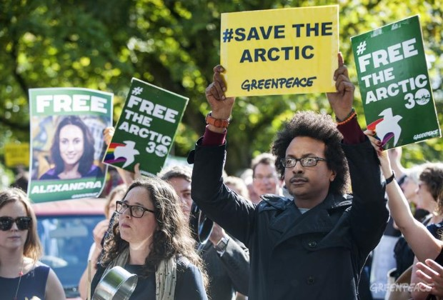 'Arctic 30' Global Day of Solidarity in the Hague