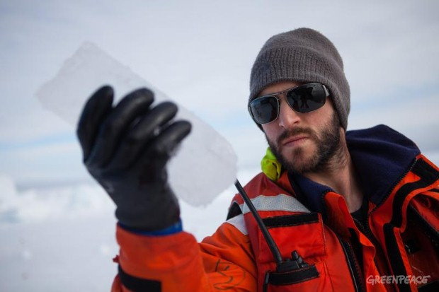 Ice core sample