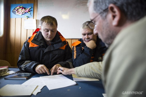 Russian Authorities Board the Arctic Sunrise
