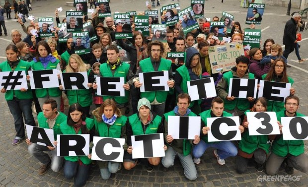 'Arctic 30' Global Day of Solidarity in Slovenia